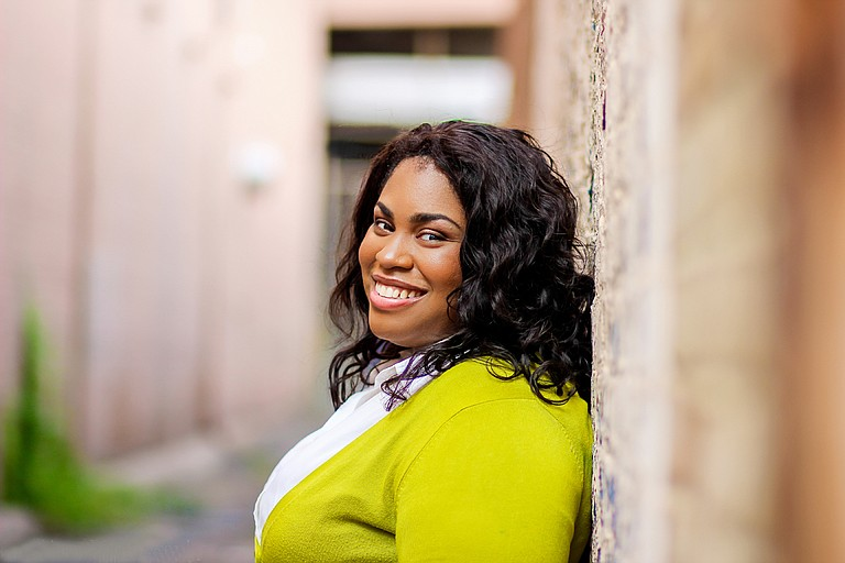 """The Council for Christian Colleges & Universities presented Belhaven University alumnus Angie Thomas, author of New York Times best-selling book """"The Hate U Give,"""" with its 2018 Young Alumni Award on Feb. 1 during the annual CCCU International Forum in Dallas. Photo courtesy Anissa Photography"""