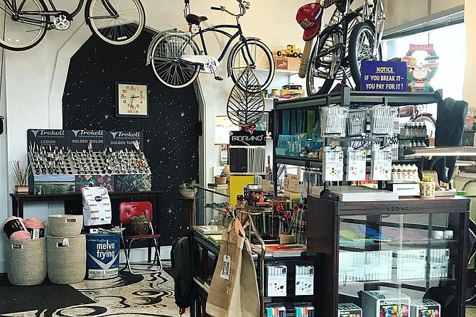 Beacon offers soy candles, cutting boards, porcelain cups, jewelry, bicycles, vintage goods, home decor, skin-care products such as moisturizer, skin oil, balms and beard oil, and fine art supplies such as fountain pens, paints, brushes, canvases and notepads. Photo courtesy Beacon