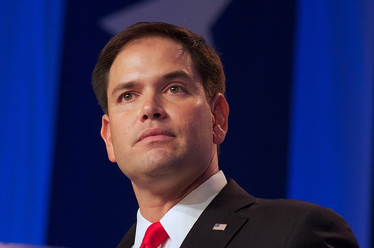 On the defensive after the Florida school shooting rampage that killed 17, GOP Sen. Marco Rubio, an ardent gun-rights advocate, said he would support raising the age to buy rifles and other restrictions. Photo courtesy Flickr/Jamelle Bouie