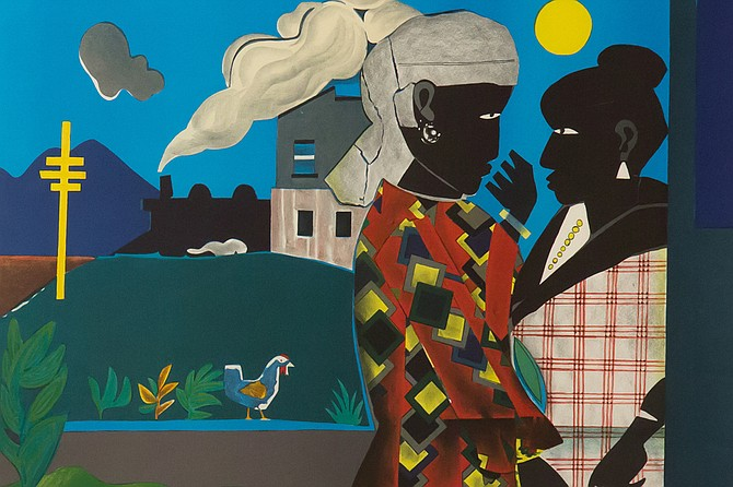 "Romare Bearden's ""The Conversation"" is among the works being displayed in ""Now: The Call and Look of Freedom."" Photo courtesy Tougaloo"