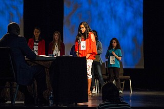 Around 50 middle-schoolers ranging from ages 9 to 14 competed in the 2018 Mississippi Spelling Bee Jackson State University on March 13, 2018.