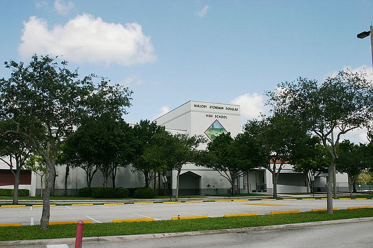 Already heightened security was being bolstered Thursday at the Florida high school that became the scene of a massacre last month, with Gov. Rick Scott ordering eight highway patrol troopers to help secure the grounds. Photo courtesy Wikicommons