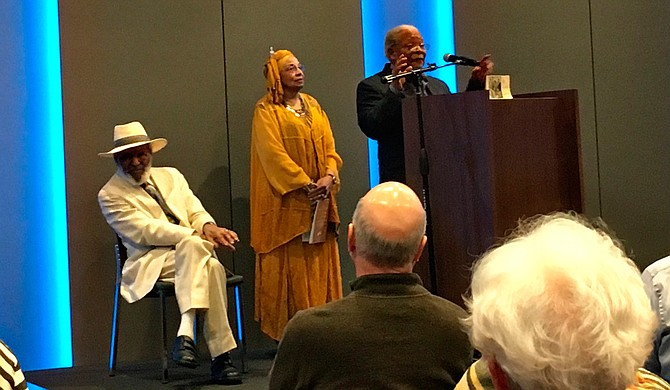 James Meredith, Flonzie Brown-Wright and Charles McLaurin spoke about their experiences with Martin Luther King Jr. on Wednesday, April 4, at the 2 Mississippi Museums.