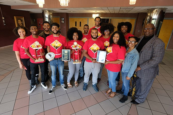 MADDRAMA, a student performance troupe at Jackson State University, recently won nine awards at the 82nd National Association of Dramatic and Speech Arts Conference at Dillard University in New Orleans. Photo courtesy MADDRAMA
