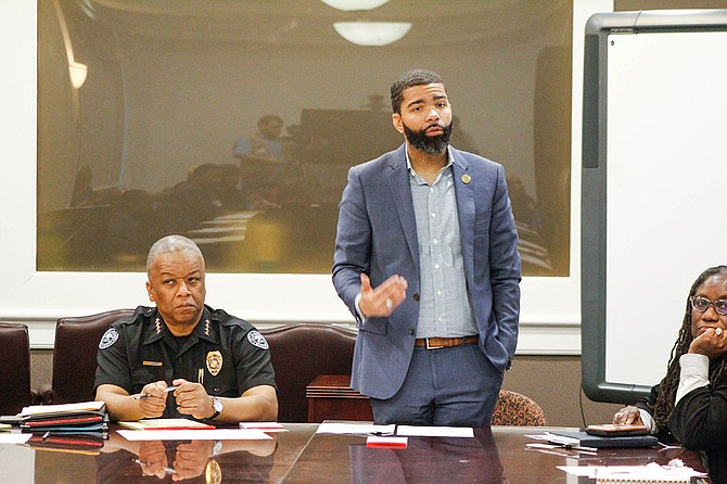 At the City's first officer-identification task force charged with crafting city policy around releasing names of officers who shoot civilians,  Mayor Chokwe A. Lumumba and JPD Interim Chief Anthony Moore sat in to offer guidance and show support.