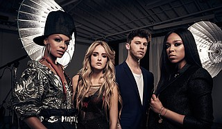"(Right to left) R&B artist Carvena Jones, a Jackson native, joins James Graham, Stephanie Zelaya and Sharaya J on season two of ""The Four: Battle for Stardom,"" which premiers on FOX on Thursday, June 7."