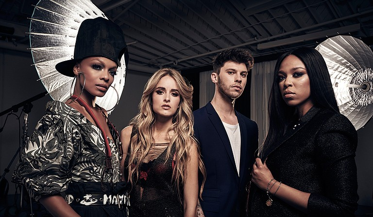 """(Right to left) R&B artist Carvena Jones, a Jackson native, joins James Graham, Stephanie Zelaya and Sharaya J on season two of """"The Four: Battle for Stardom,"""" which premiers on FOX on Thursday, June 7."""