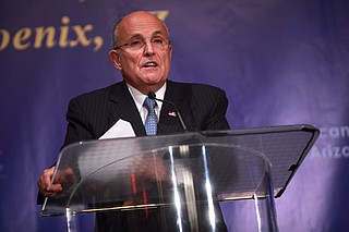 """President Donald Trump's attorney, Rudy Giuliani, said Stormy Daniels' claim she had sex with Trump in 2006 isn't credible because she's a porn actress with """"no reputation."""""""