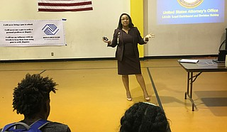 Assistant U.S. Attorney Candace Mayberry delivered a presentation to middle and high schoolers at the Boys and Girls Club on Raymond Road on June 27 and had them take a pledge against gun violence.