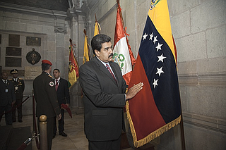 In an exchange that lasted around five minutes, McMaster and others took turns explaining to Trump how military action could backfire and risk losing hard-won support among Latin American governments to punish President Nicolas Maduro (pictured) for taking Venezuela down the path of dictatorship, according to the official.