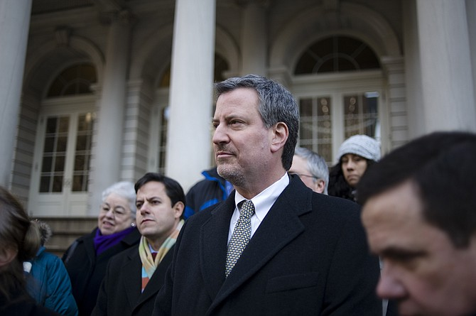New York City Mayor Bill de Blasio and his security detail violated both Mexican and U.S. immigration laws by crossing the border on foot during a visit near El Paso, Texas, U.S. Customs and Border Protection alleges in a letter obtained by The Associated Press.