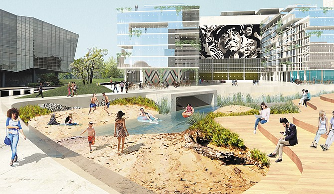 At the Downtown Design Dialogue on June 30, the City's Planning Department displayed renderings to spark conversation around what land in front of the convention center can become.