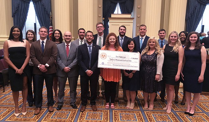 Mississippi State University presented $30,000 scholarships to six current students and three graduates on Thursday, July 12, as part of the Mississippi Rural Physicians Scholarship Program.