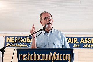 Secretary of State Delbert Hosemann announced at the Neshoba County Fair on Aug. 1, 2018, that he does not plan to seek re-election, but to run for an officer higher on the Mississippi ballot. Photo by Ashton Pittman
