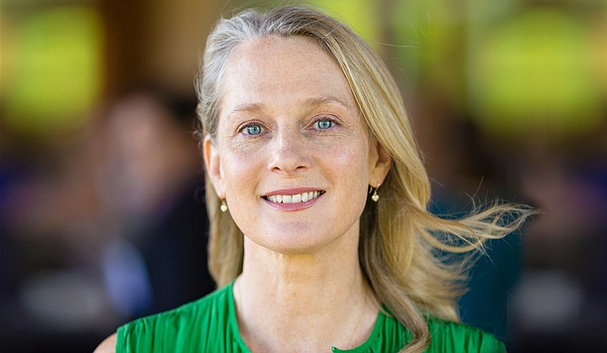 Author Piper Kerman sat on a prison education panel on Aug. 23, 2018, saying America needs to rethink its historic obsession with harsh punishment. She defended protesters who interrupted the panel in its second hour supporting a national prison strike.
