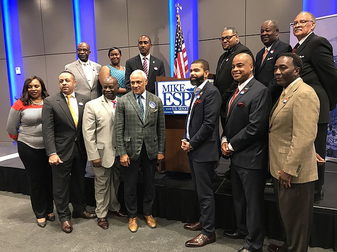Nearly a dozen black Mississippi mayors endorsed Mike Espy for U.S. Senate on August 30, 2018 at the Mississippi Civil Rights Museum.