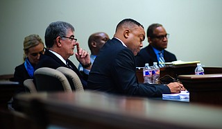 Testimony in Hinds County District Attorney Robert Shuler Smith's Rankin County trial for aggravated stalking and robbery began on Sept. 11, 2018.