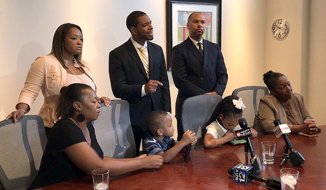Lawyers representing Crystalline Barnes held a press conference on Sept. 17, 2018, after filing a federal lawsuit against Jackson Police Department for shooting and killing her in January.