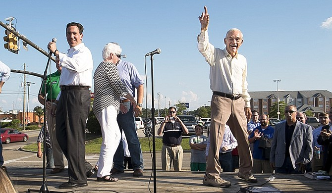 Former Texas Congressman Ron Paul endorsed Mississippi State Sen. Chris McDaniel in his 2014 bid for U.S. Senate at a rally in Hattiesburg, Miss. Paul endorsed him again in his 2018 bid on Sept. 19.
