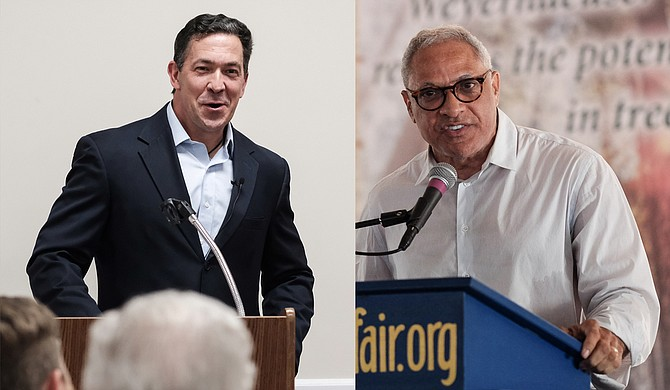 State Sen. Chris McDaniel (left), former congressman and U.S. Secretary of Agriculture Mike Espy (right) and former U.S. Navy Intelligence Officer Tobey Bartee (not pictured) have agreed to participate in the debate. Photo by Ashton Pittman