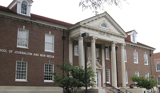 Ed Meek, the eponym of the Meek School of Journalism and New Media at the University of Mississippi, requested for his name to be removed from the institution on Sept. 22, less than a week after his Facebook post including two black women stirred controversy. Ken Lund/Flickr