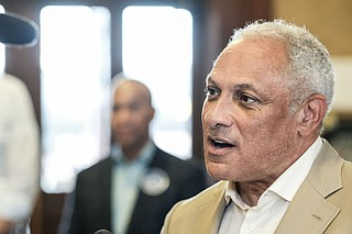 "U.S. Senate candidate Mike Espy said Republican incumbent Cindy Hyde-Smith is not displaying ""the kind of leadership Mississippi"" deserves when it comes to her support for Supreme Court nominee Brett Kavanaugh. Photo by Ashton Pittman"