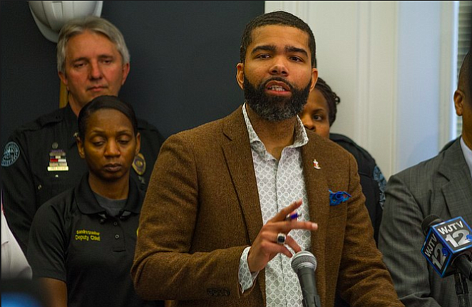 Mayor Chokwe A. Lumumba has apologized for an insensitive Forest Hill High School band display at half-time at Brookhaven High School. File photo by Stephen Wilson