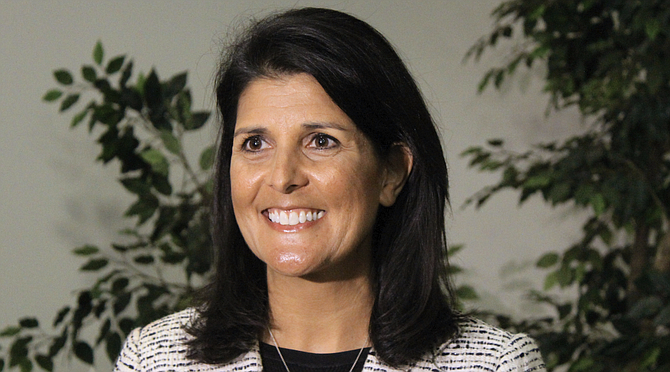 U.N. Ambassador Nikki Haley is leaving the administration at the end of the year, she and President Donald Trump announced Tuesday. She gave no reason for her departure after two years, though there has been speculation she will return to government or politics at some point. Photo courtesy Flickr/Nikki Haley