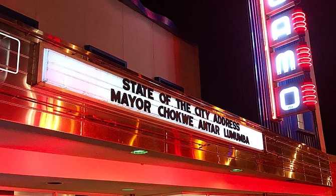 Mayor Chokwe Antar Lumumba gave is second annual State of the City address at the Alamo Theatre on Farish Street on Oct. 11, 2018.