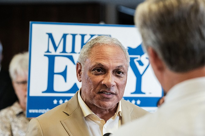 Under Monday's campaign finance reporting deadline, Republican Sen. Cindy Hyde-Smith said she collected just over $1 million during the three months and Democrat Mike Espy (pictured) said he raised nearly $1.2 million.