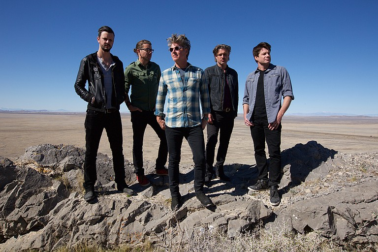 (Left to right) Jesse Triplett, Will Turpin, Ed Roland, Dean Roland and Johnny Rabb of Collective Soul perform at City Hall Live in Brandon on Tuesday, Oct. 23. Photo courtesy Joseph Guay