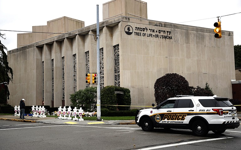 After the Tree of Life shooting on Saturday, Oct. 27, Jackson organizations Working Together Jackson and Beth Israel Congregation are hosting events in solidarity with the Jewish community on Monday, Oct. 29. AP Photo/Matt Rourke