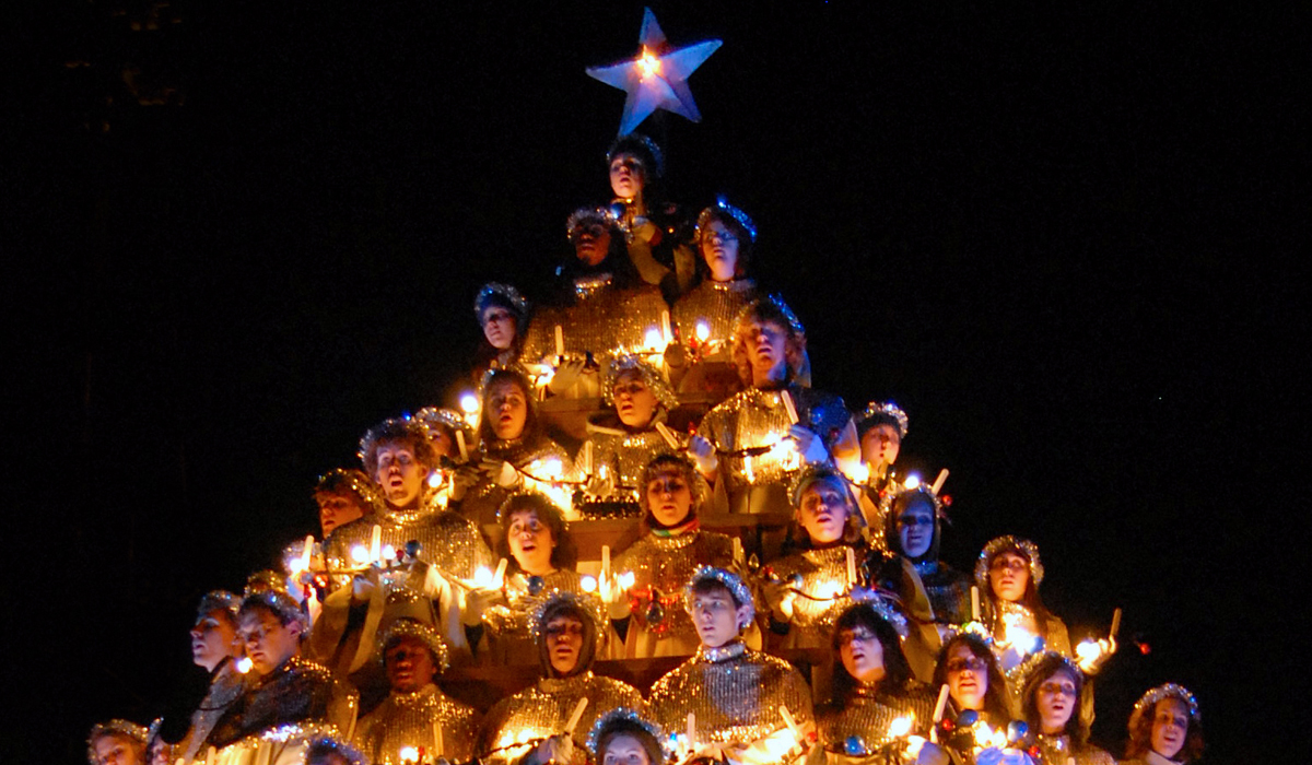 Singing Christmas Tree at Belhaven, 'Lighting the Way' at USM and MSU Holiday Open House