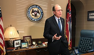 Secretary of State Delbert Hosemann addressed an ongoing lawsuit against him and the State of Mississippi concerning absentee voting in his Capitol office on Nov. 26.