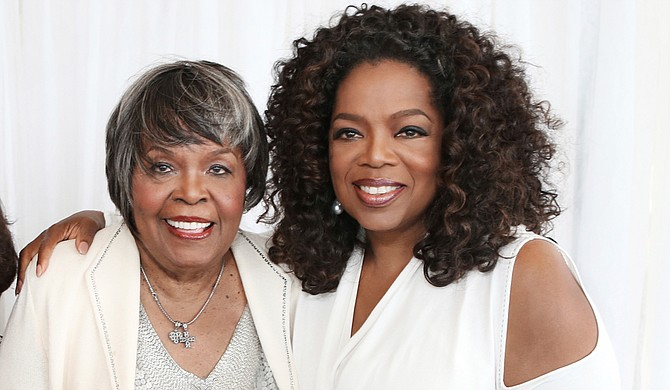 Vermita Lee (left) with Oprah Winfrey (right) Photo courtesy George Burns/Harpo Inc. via AP