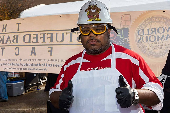 """Michael Joyner, a Jackson resident, won Northpark's """"Taste for the Space"""" culinary competition representing The Stuffed Baked Potato Factory. Photo courtesy Northpark"""