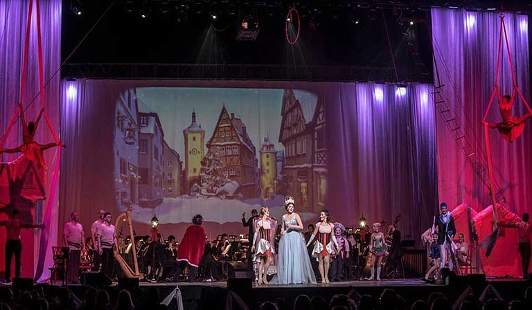 Thalia Mara Hall in downtown Jackson has featured plenty of orchestral events over the years, but the latest concert from touring act Cirque Musica plans to do something a little different with the space. Photo courtesy Sovic Designs