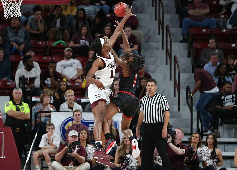 With Victoria Vivians now in the WNBA, the Bulldogs will depend on players such as Tearia McCowan. Photo courtesy MSU Athletics