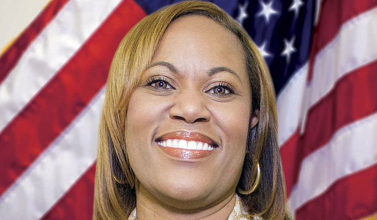 """Mississippi Department of Corrections Commissioner Pelicia Hall told a gathering at the state capitol that criminal-justice reform is now at the """"heartbeat of the national conversation."""" Photo courtesy MDOC"""