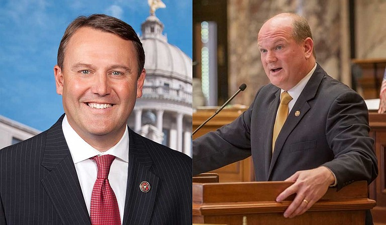 Republican Rep. Jason White (left) seeks to divert mentally ill people away from criminal court, would stop suspending driver's licenses in some cases and allow people to wipe more crimes from their record. Senate Bill 2927, sponsored by Pascagoula Republican Brice Wiggins (right), would tackle a much more ambitious set of reforms. Photo courtesy MS House of Representatives/Imani Khayyam