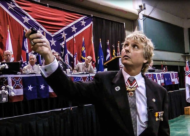 Sons of Confederate Veterans Commander-in-Chief Michael Givens spoke the the SCV's Annual Reunion in Vicksburg, Miss., in 2013. Mississippi Lt. Gov. Tate Reeves was among those speaking. Photo courtesy SCVORG channel on YouTube