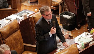 Mississippi House Rep. Jay Hughes, D-Oxford, told angry voters that he and other white Democrats in the House voted for the six-week ban on abortion Wednesday to save their seats.