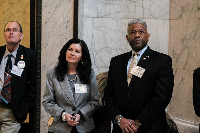 Mississippi Sen. Angela Burkes Hill, R-Picayune, sponsored a resolution calling for a convention of the states to amend the U.S. Constitution. Retired U.S. Army Lt. Col. Allen West, a former Florida congressman, came to the Mississippi Capitol to support the measure on Feb. 21, 2019.