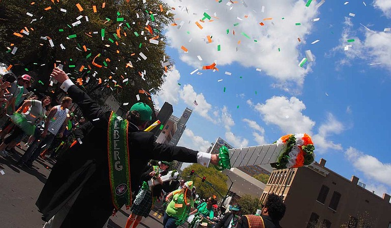 The Hal's St. Paddy's Parade & Festival draws around 75,000 people a year, Jackson Police Department estimates show. This year's event is Saturday, March 23. Photo courtesy Ardenland