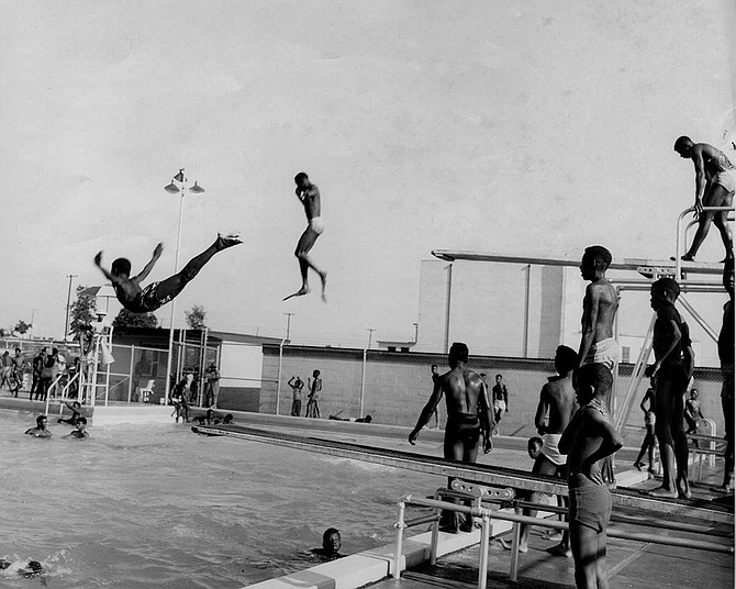 In the 1960s, black and white citizens of Jackson had to swim in segregated pools. Photo by Roy Hargrove/MDAH