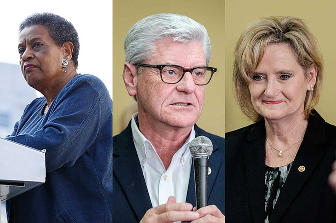 Civil rights activists Myrlie Evers-Williams said on March 15 that she was 'incensed' over remarks Mississippi Gov. Phil Bryant made, and criticized U.S. Sen. Cindy Hyde-Smith for comments she made last year. Photos by Imani Khayyam and Ashton Pittman