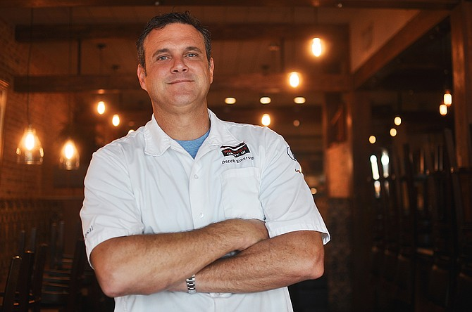 Chef Derek Emerson is the co-owner of Walker's Drive-In and is also an owner/operator at Local 463 Urban Kitchen, Parlor Market and The Capital Club. Photo by Devna Bose