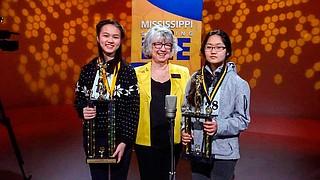 (Left to right) Yolanda Ni, MAE President Joyce Helmick and Soyeon Park Photo courtesy MPB