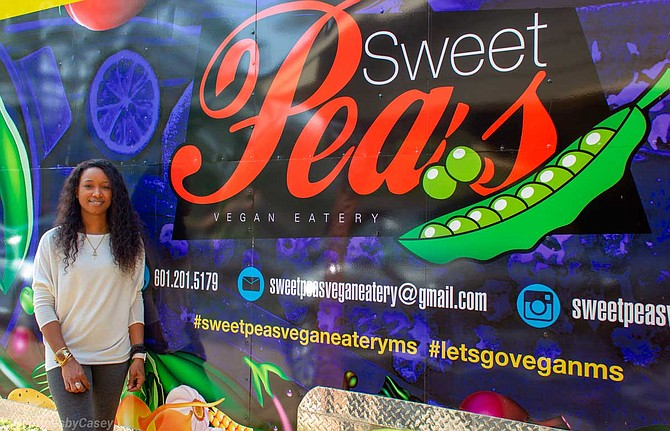 Sweet Peas Vegan Eatery owner Lataurius Rodgers wants her menu to have dishes that are appealing to all—especially people who may not consider trying vegan food. Sweet Peas will open on April 3. Photo by Acacia Clark, Captures by Casey