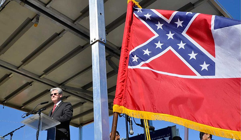 """Mississippi Gov. Phil Bryant, a Republican, said in a statement Friday: """"I'm disappointed in Gov. Murphy's actions. As I have repeatedly said, the voters of Mississippi should decide what the state flag is or is not."""" File Photo by Trip Burns"""